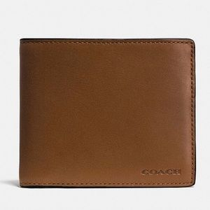 Brand New, Unused Men's Coach Compact Id Wallet